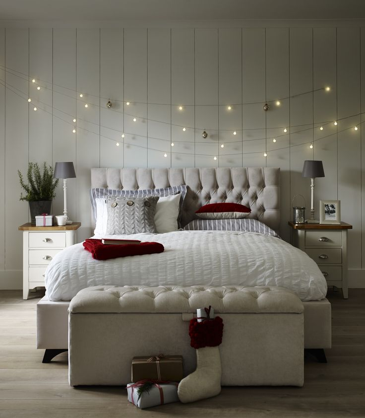 Add Strings Of Fairy Lights Above The Bed For A Magical Christmas Touch Flavoursofxmas Majestic