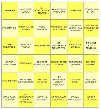 Vergader bingo. Anders vergaderen