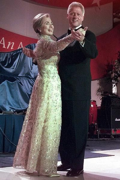 President Clinton and first lady Hillary Clinton