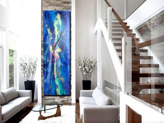 Abstract kunst aan de muur muur abstracte door AlexandraTheGallery