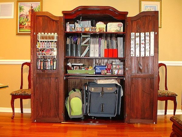 20 Best Craft Armoire Images On Pinterest Craft Rooms
