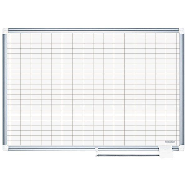 Mastervision Cr0630830 24 X 36 Magnetic 1 X 2 Gridded Porcelain Whiteboard With Silver Aluminum Frame In 2020 Planning Board Magnetic Dry Erase Calendar Dry Erase Calendar