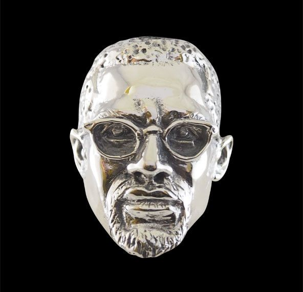 Sterling Silver Malcolm X Ring from Jax Biker Jewellery by DaWanda.com