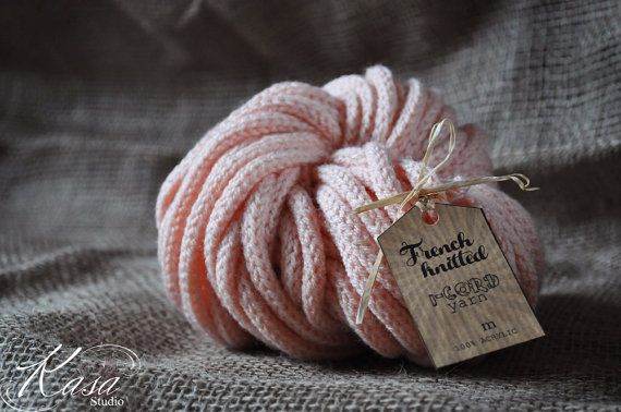 Super Chunky French Knitted i-cord Yarn in by KasaStudioDesigns