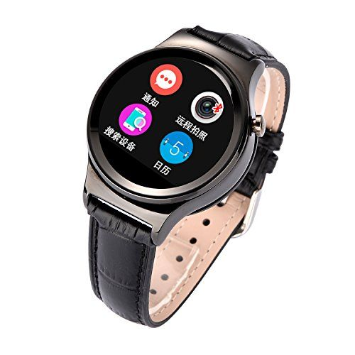 Lincass Waterproof Smart Bluetooth 122 Resolution of 240x240 Wristwatch Heart Rate Monitor Sports Pedometer Sleep Tacker Answering Phone Remote Camera Intelligent SIM TF Card Android System Black *** See this great product.