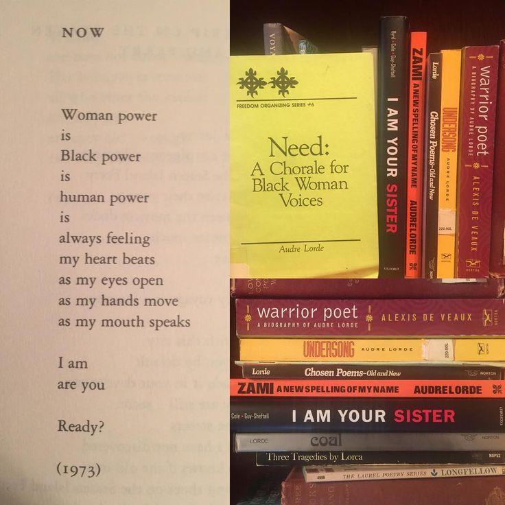 Honoring the memory of Audre Lorde who died #otd 17 November 1992 (b. 18 February 1934) #audrelorde #poet #poetry #feminist #black #zami #cancerjournals #writer #professor #librarian #activist  #essayist #poem  #books #bookstagram  #lesbian #gay #lgbt #queer #bookshelf  #bookshelfie #ilovepoetry  #bibliophile #booklover #revolutionary #blackpower #womanist #blackwoman