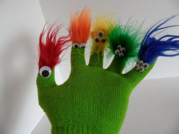 Monster Glove Puppet for Adoption by Ruhammie on Etsy, $4.50