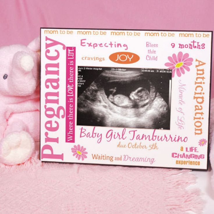 Personalized New Pregnancy Ultrasound Printed Frame