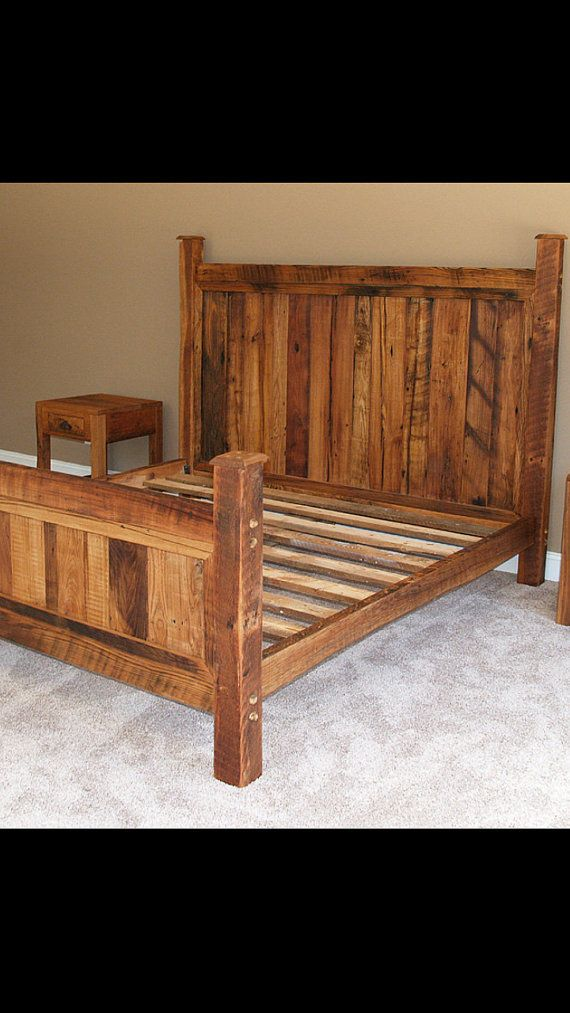 hey i found this really awesome etsy listing at httpswww rustic bed frameswooden - Wood Bed Frames Queen