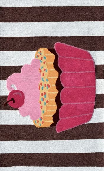 Yummy Cupcake! #nursery #rug #decor #pink
