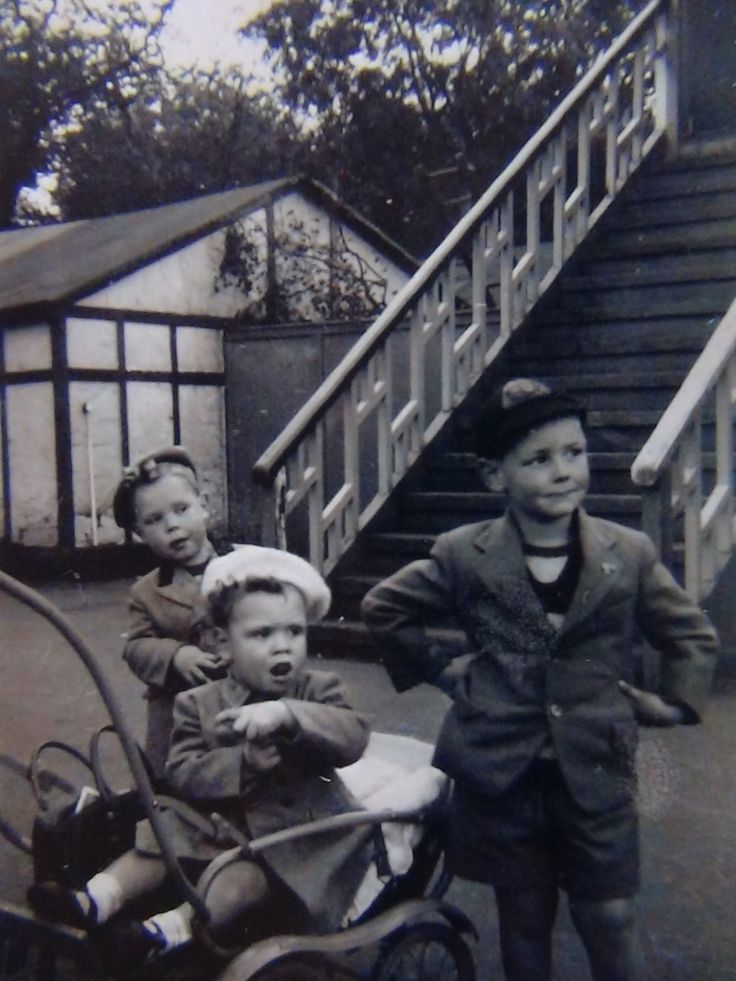 me and my brothers 1956. Ashton-under-Lyne England UK