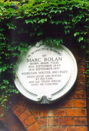 Marc Bolan @ Golders Green crematorium