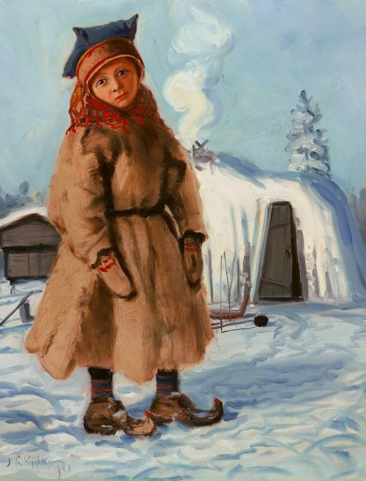Juho Kyyhkynen - Lappish Tent, 1909
