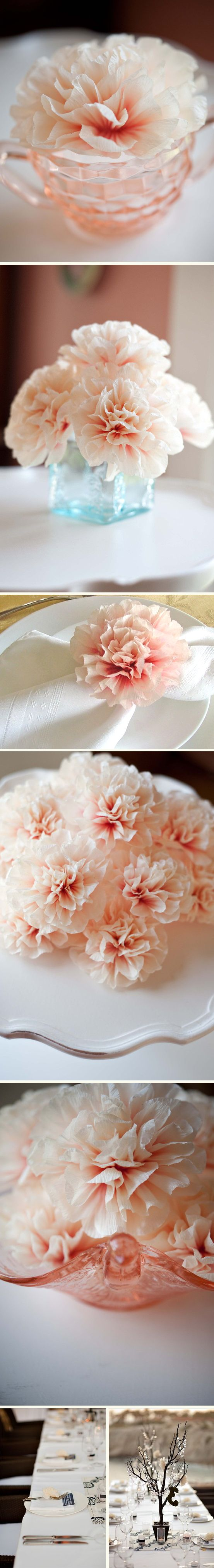 incredible crepe paper carnations.. and i'm not into fake flowers, ya'll