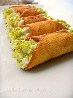 DOLCEmente SALATO: Cannoncini croccanti con mousse di gorgonzola