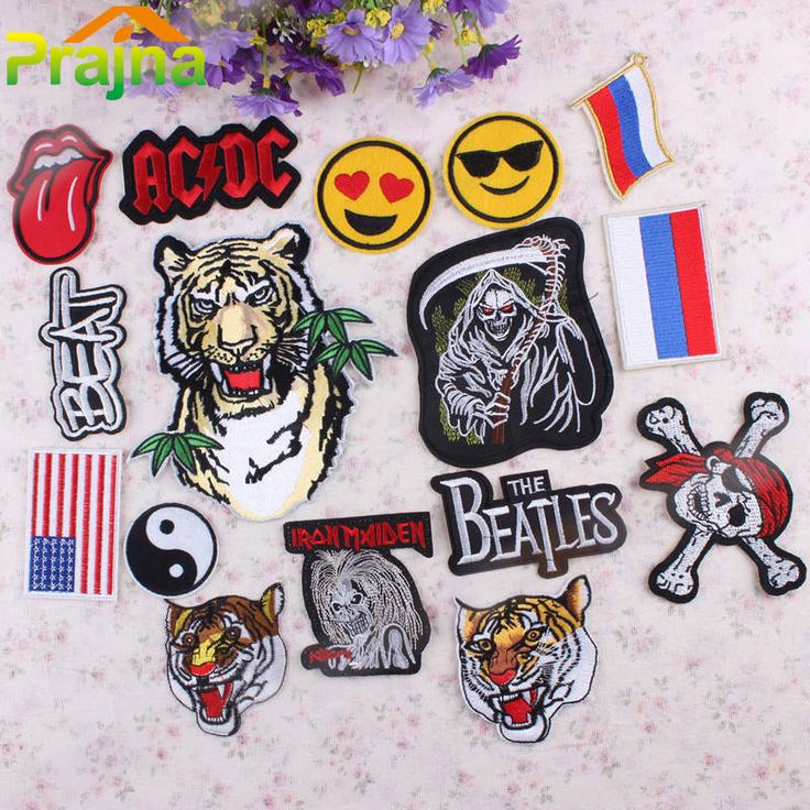 Cheap patch iron on, Buy Quality iron on directly from China patch iron Suppliers: 1PCS Tiger Skull Flag Patch Iron On Biker Patches Punk Rock Cheap Embroidered Band Patches For Clothes DIY Accessories Badge