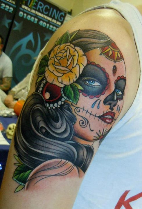 2014 German flag World Cup tattoo on face for girls ...  German Tattoos For Girls