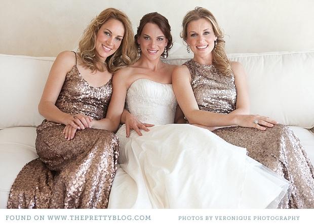 Glitter bridesmaid dresses