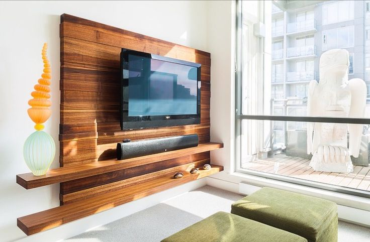 Fab timber TV wall
