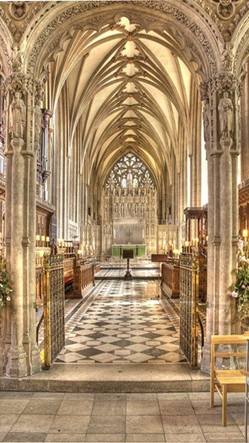 In Bristol Cathedral, England, built in 1142