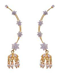 Buy Golden gold plated american diamond ear cuffs ear-cuff online