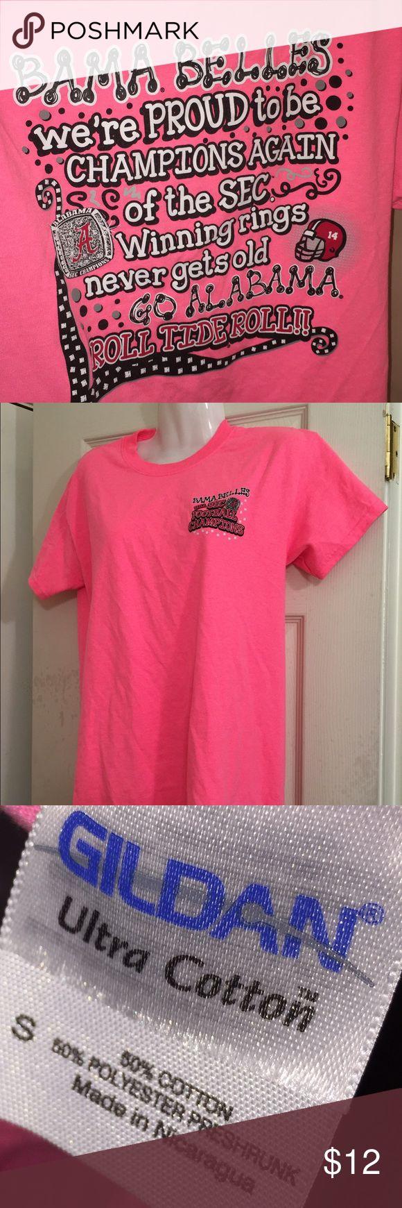Pink Bama Belles t shirt Small Pink tee shirt celebrating University of Alabama 2012 SEC football  championship win. Great used condition. Small cotton women's shirt. Tops