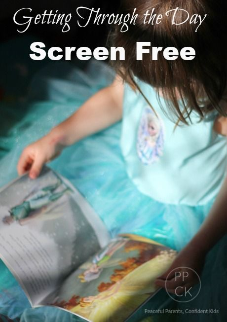Tips for getting through the day screen free from Peaceful Parents, Confident Kids