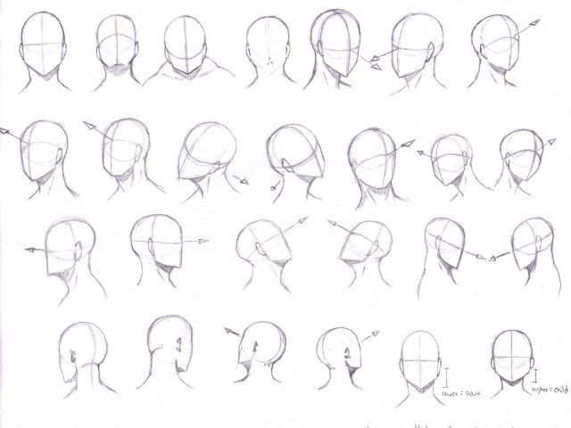 Image Result For Drawing Manga Heads From Different Angles Face Angles Anime Head Manga Drawing