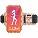 Sports Armband, Ace Teah Water Resistant Running and Exercise Armband with Key Holder and Removal Arm Band Cellphone Armband Case iPhone Galaxy and Other Smartphones Up to 5.1 Inch Orange