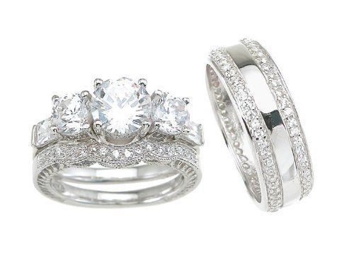 3 Pieces Men's Women's His & Hers Engagement Wedding Ring Set (Hers Sizes 5-10) (His Sizes 8-12) LaRaso & Co. $99.99. His & Her Matching 3 Ring Set. Gift Boxed. Traditional Style. His Ring Sizes 8-12. Her Ring Sizes 5-10. Save 47% Off!