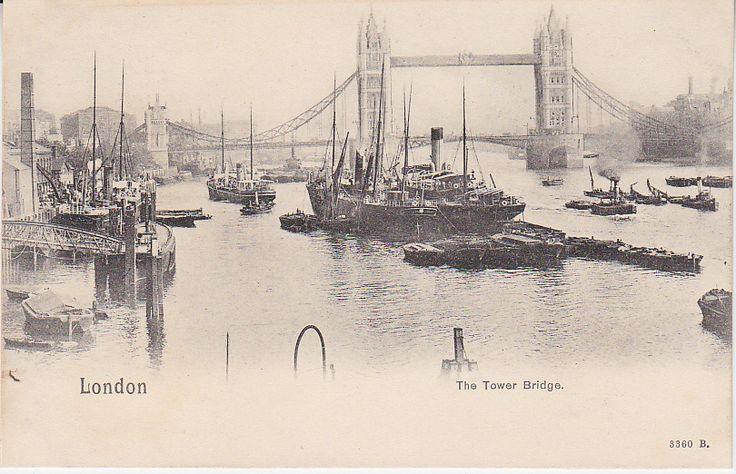 Peacock Brand Postcard - London, The Tower Bridge - 3360B | PC02296