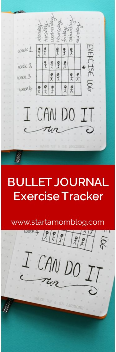 Bullet Journal Ideas Exercise Tracker