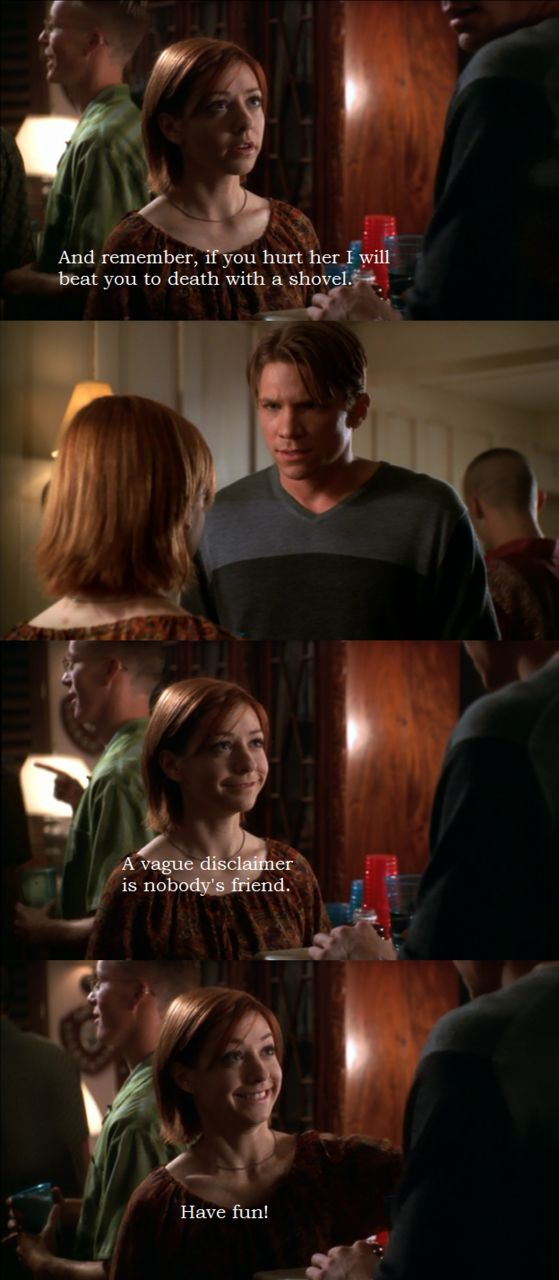 Willow and Riley from Buffy the Vampire Slayer.