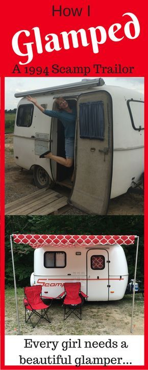 Easy DIY RV Makeover: 13-foot Scamp Trailer! The first thing that I noticed, when I spent a little time in my camper, was the ungodly, toxic smell! It was a mix of mold, mothballs and the 1970's even though it was a 1994 Scamp...