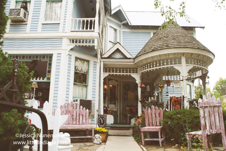 Madeline's French Country Shop in Nashville, #Indiana -- INCREDIBLE house turned shop!