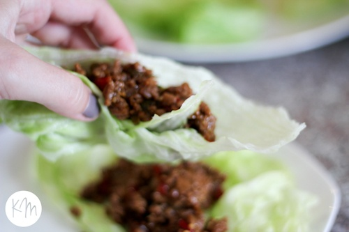 Asian {Taco} Night ::: Ground Beef Lettuce Wraps