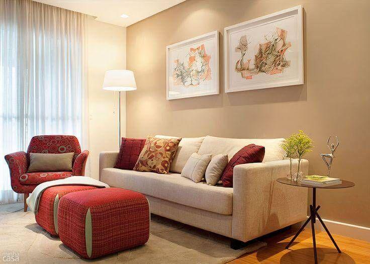 CORES para sala de estar, tv e sala de jantar (inspire-se nas fotos) | Linda e feliz   – antes e depois