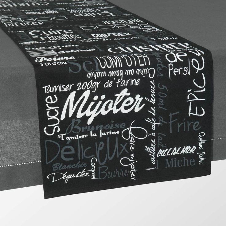 chemin de table mijoter maison du monde wishlist pinterest mijot chemins de table et. Black Bedroom Furniture Sets. Home Design Ideas