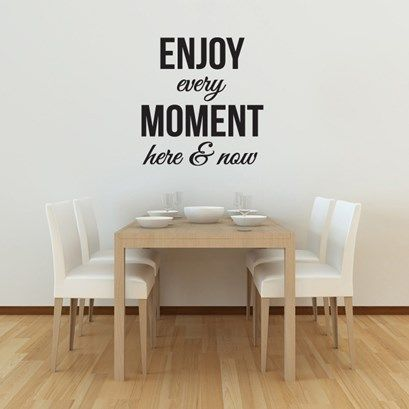 Enjoy Every Moment Wall Art from Next Wall Stickers
