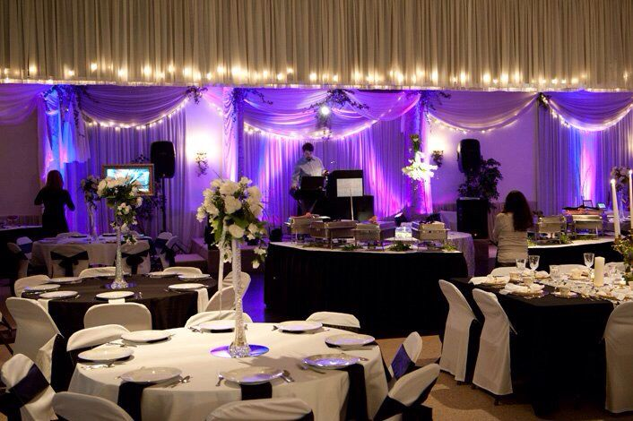 Of Serving As The House Disc Jockey For Elm Ridge Party Centers Bridal Open Venue Was All Dressed Up A Make Believe Wedding Reception