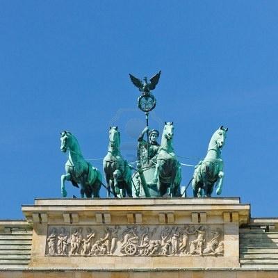 Atop the Brandenberg gate, Berlin, Germany