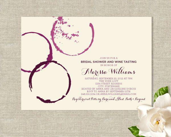 Wine Theme Bridal Shower Invitations