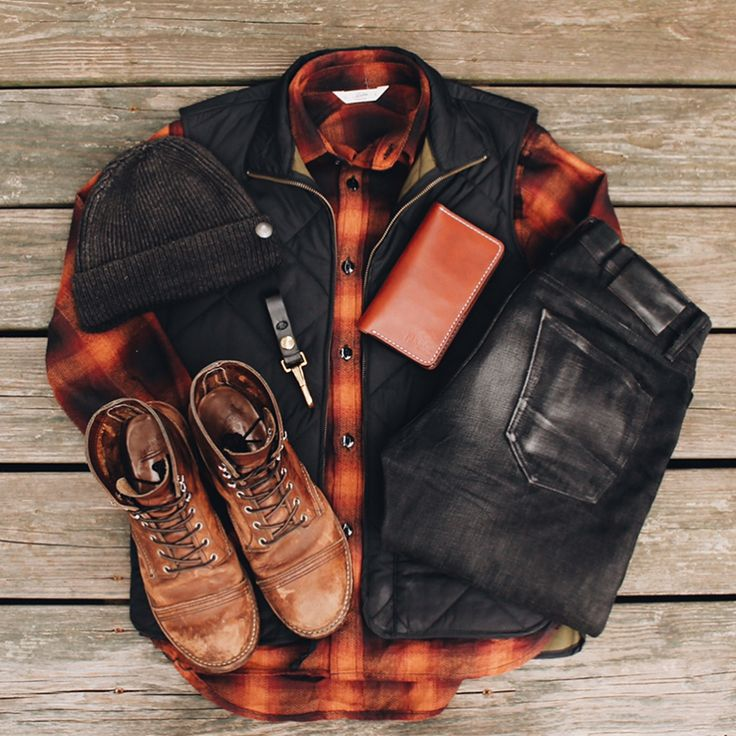 Mens Fashion - Rugged, Black Denim, Quilted Vest, Hat, Boots, Flannel - @evanholahan See more inspiration on my Instagram @runnineverlong