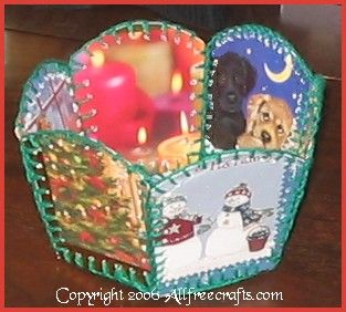 upcycled card basket #upcycle #paper
