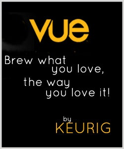 Just pop a vue pack in the Keurig Vue and you are all set; coffee, tea, cocoa, cider, each brewed exactly to your specifications.  How cool is that?