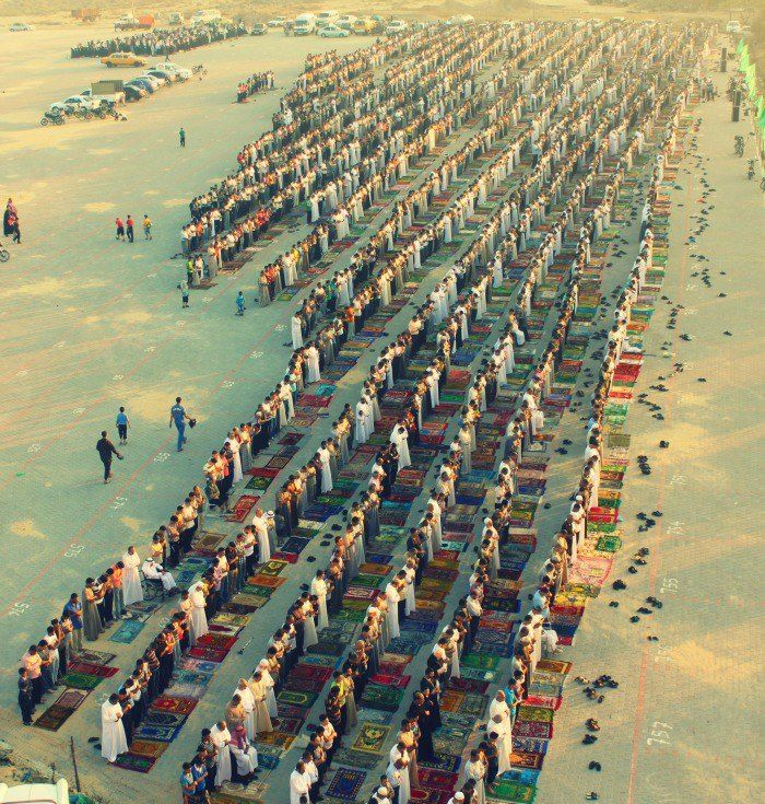 Eid prayers in the Nuseirat refugee camp in the central Gaza Strip.