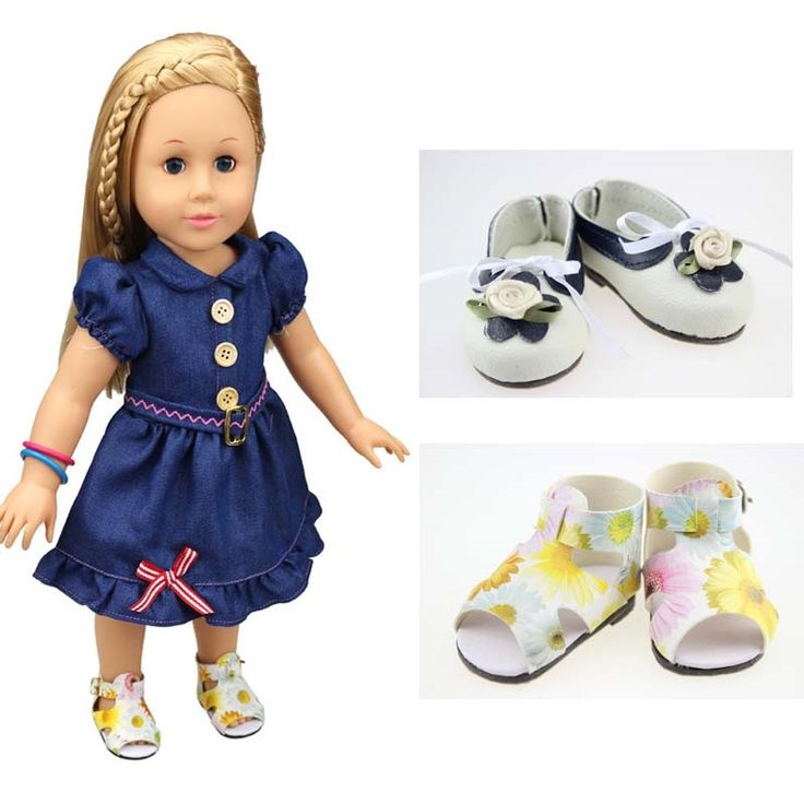 10.00$  Watch now - http://alik81.shopchina.info/go.php?t=32757442194 - 2Pairs/Lot Hot Sale Doll Accessories Fashion American Girl Doll Shoes 18Inch  #magazine