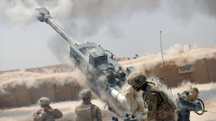 Battle of Mosul 2016 - US Army Artillery & M142 HIMARS Heavy Fire Suppor...