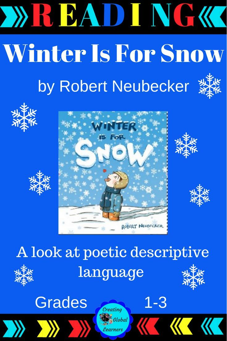 A beautiful book to read to first through third graders to look at descriptive, poetic language. As teachers read, they can pause and students can write down beautiful winter language. Students can write their own snow poems, Snow is for…In addition, students can draw a snowflake to put in a window frame the teacher can design and place on the Bulletin Board.|Poetry for Kids|#Poetry