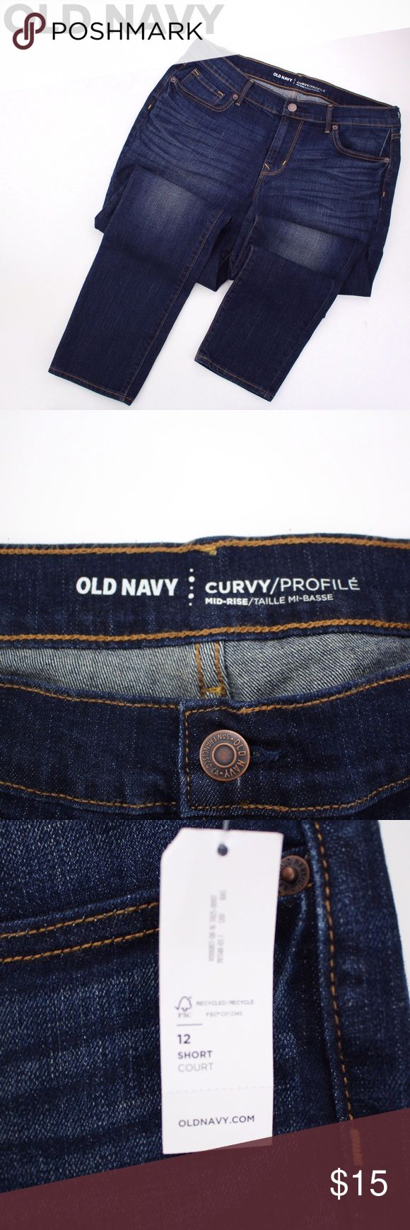 OLD NAVY Curvy Profile Skinny Jeans BNWT Old Navy Curvy Profile mid rise skinny jeans. Jeans Skinny